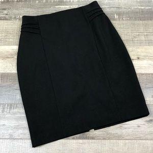 EXPRESS   Black Midi Pencil Skirt Chic Size 4
